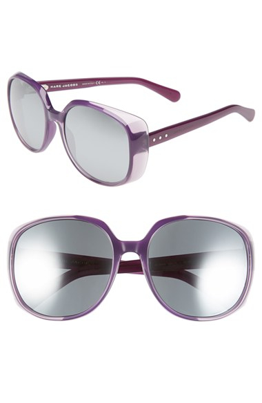 Lyst Marc Jacobs 58mm Oval Sunglasses Violet Purple In
