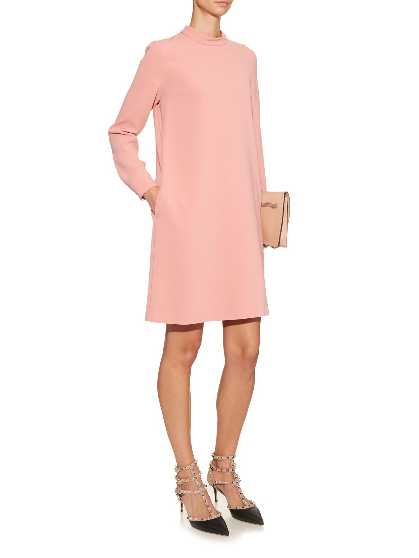 max mara studio ozieri dress in pink lyst. Black Bedroom Furniture Sets. Home Design Ideas