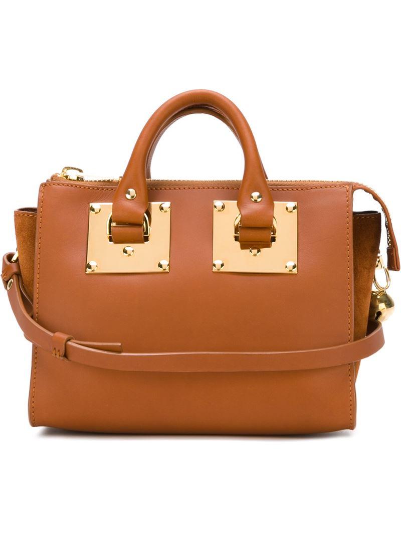 e5c4331eca Lyst - Sophie Hulme Holmes Leather Cross-Body Bag in Brown