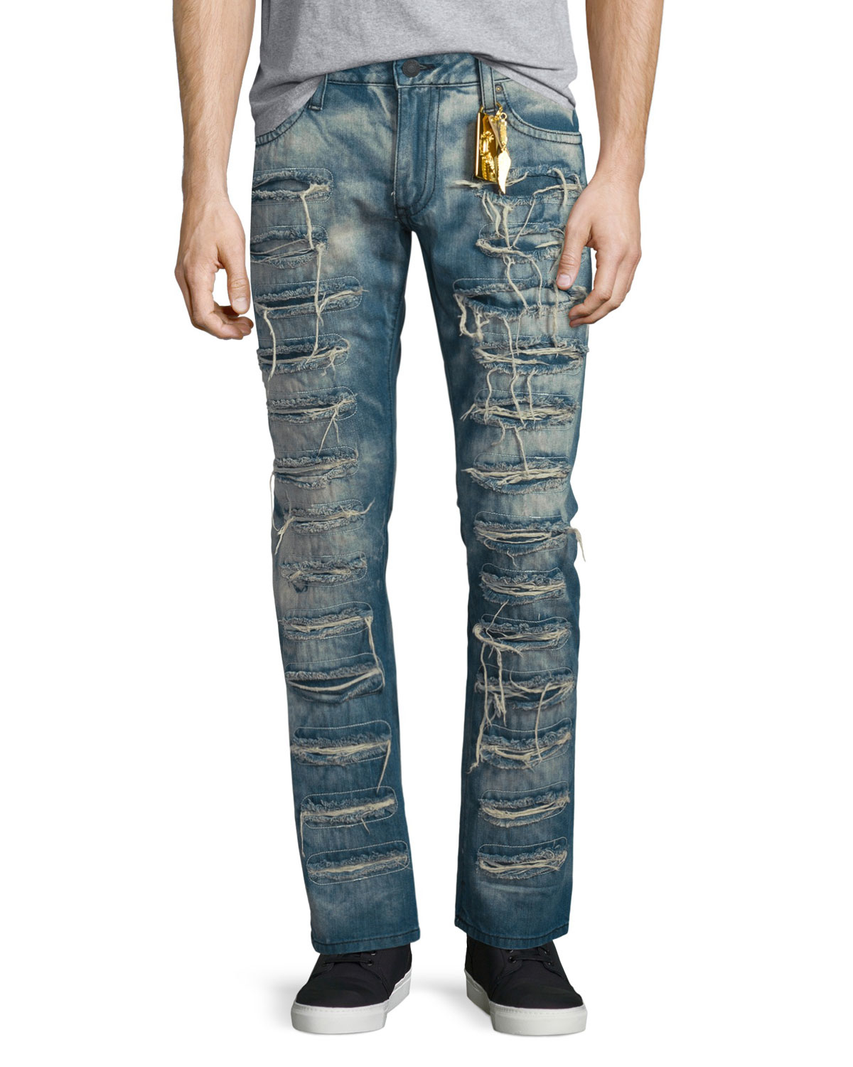 Robin's jean Super Distressed Denim Jeans in Blue for Men ...