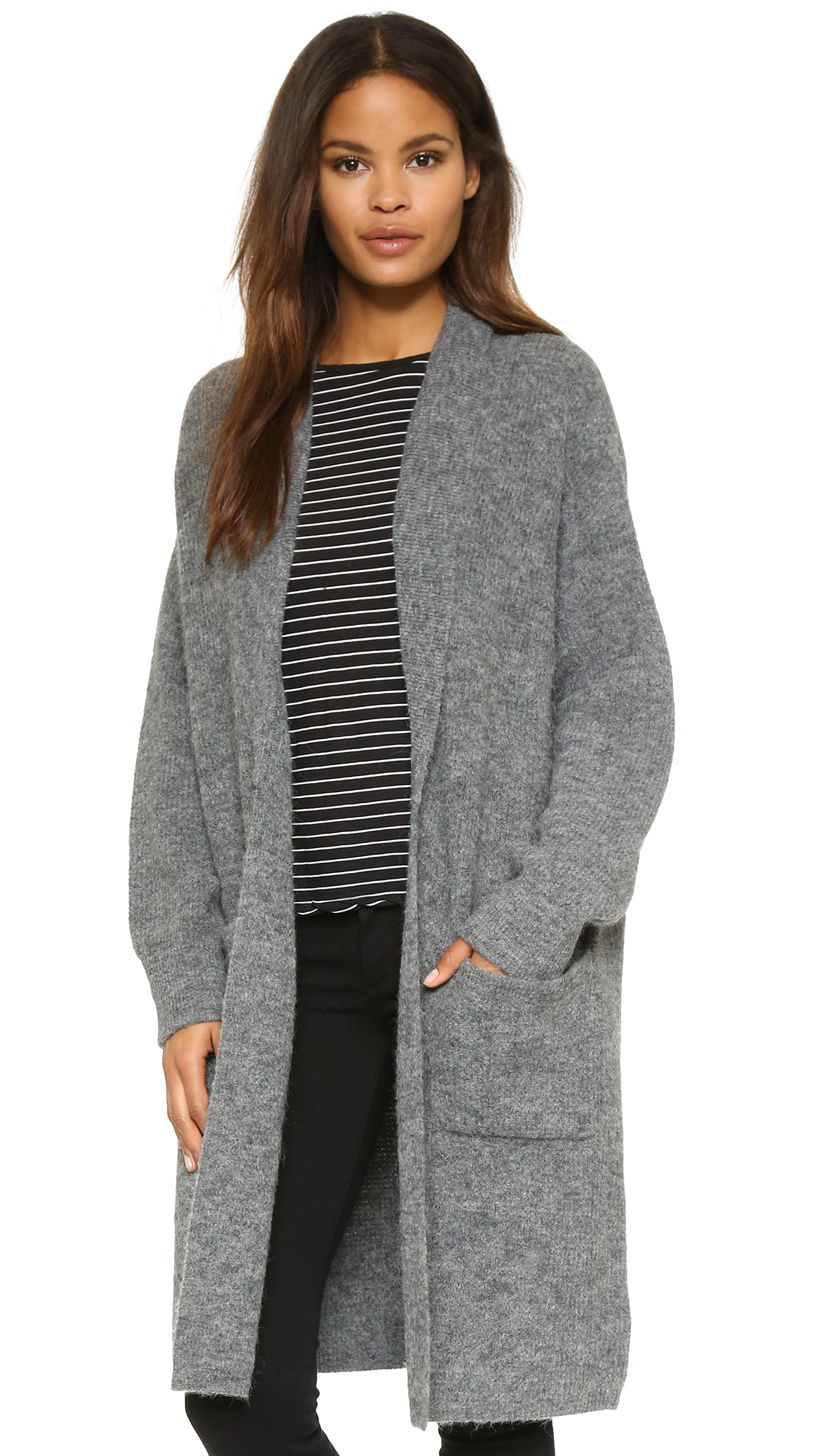 88c42d25ae Dkny Pure Cardigan - Heather Grey in Gray