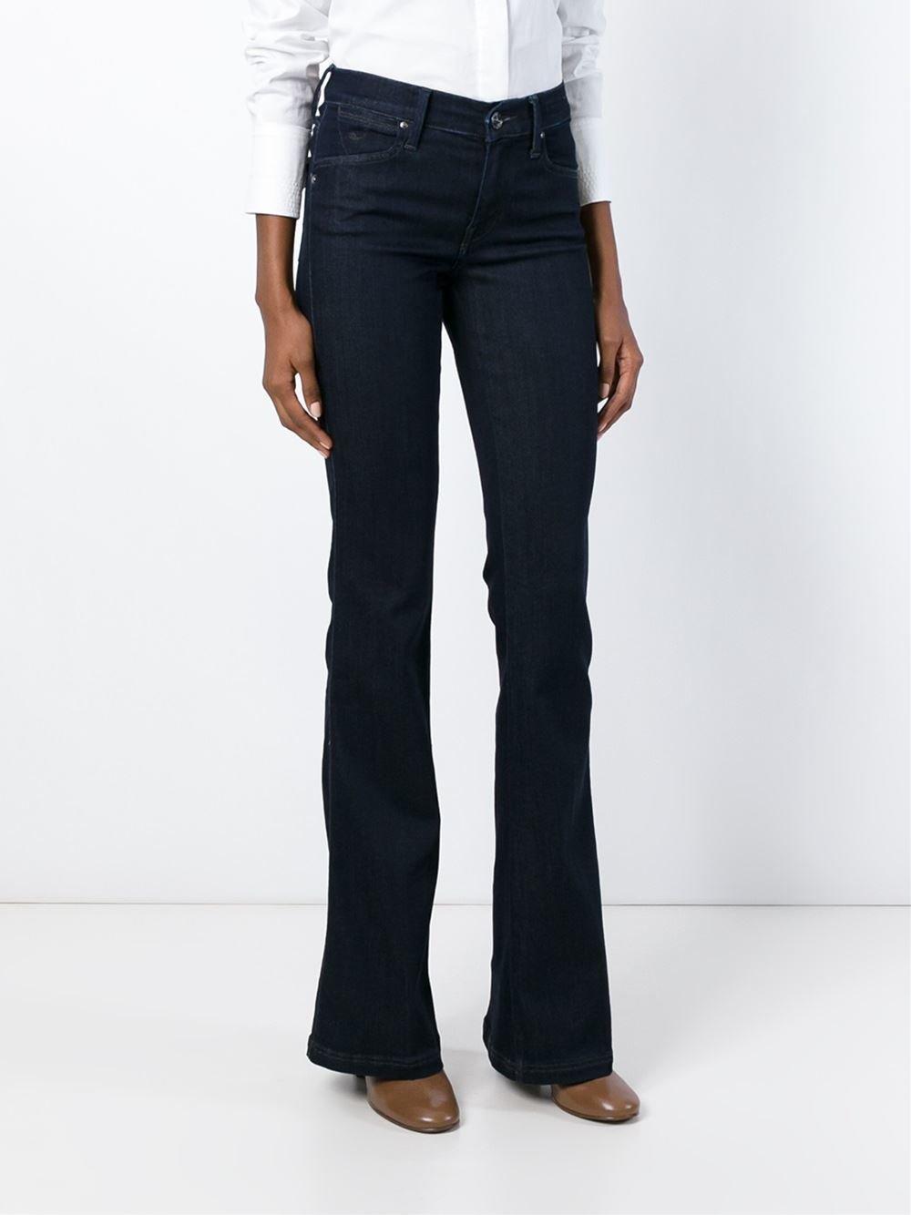 Jacob cohen flared jeans in blue lyst - Jacob cohen denim ...
