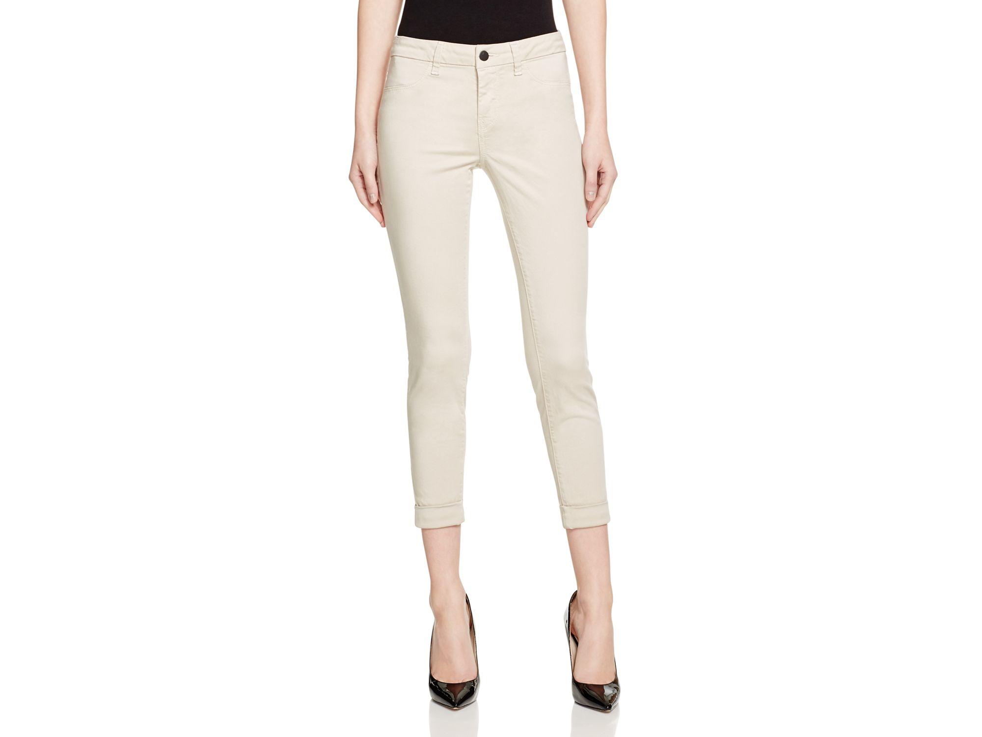 b22ec84e070 Lyst - J Brand Anja Ankle Cuff Jeans In Ashwood in White