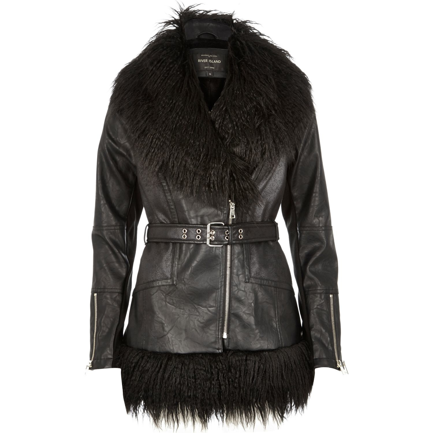 River island girls leather jacket