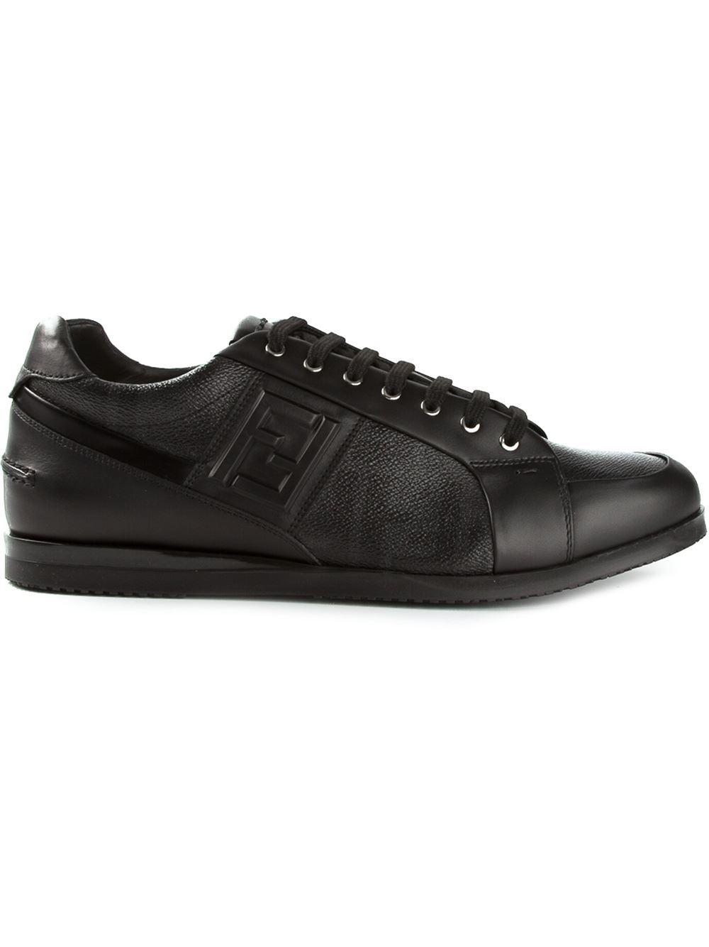 Fendi Ff Logo Sneakers in Black for Men - Lyst