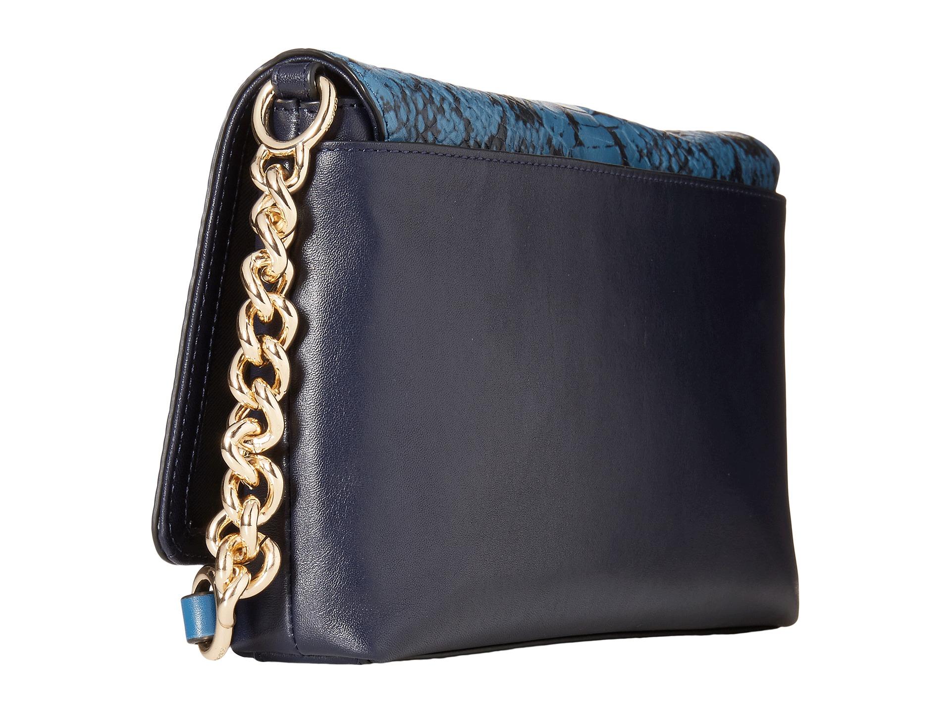 italy coach navy blue crossbody handbag f403d 520fe  spain lyst coach color  block crosstown crossbody in blue 5d160 d1abb de6272887e970