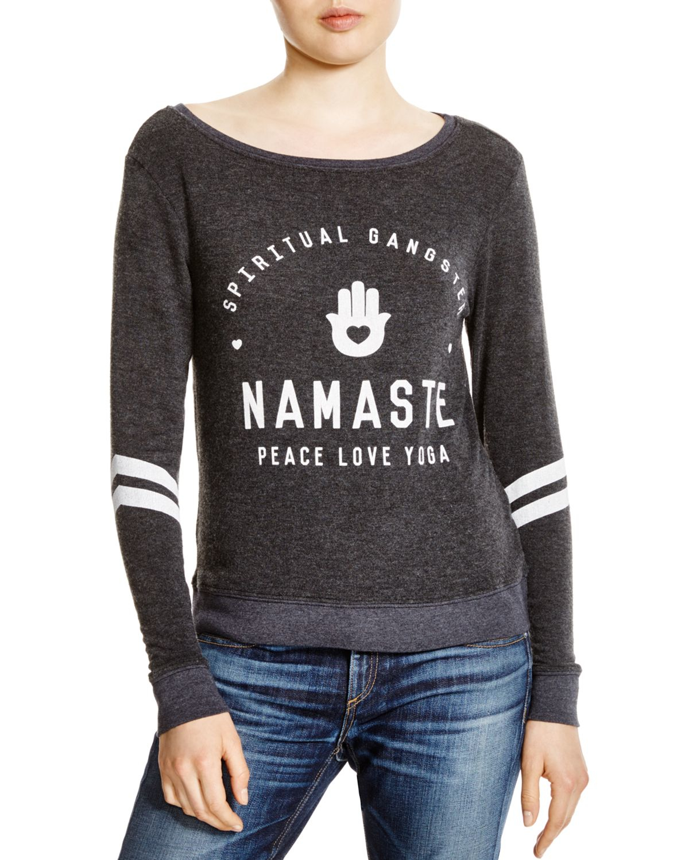 Spiritual gangster Namaste Savasana Printed Sweatshirt in ...