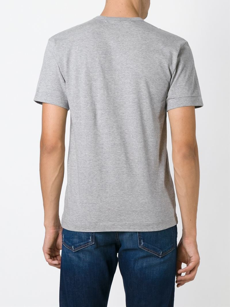 Lyst Play Comme Des Gar Ons Logo Print T Shirt In Gray