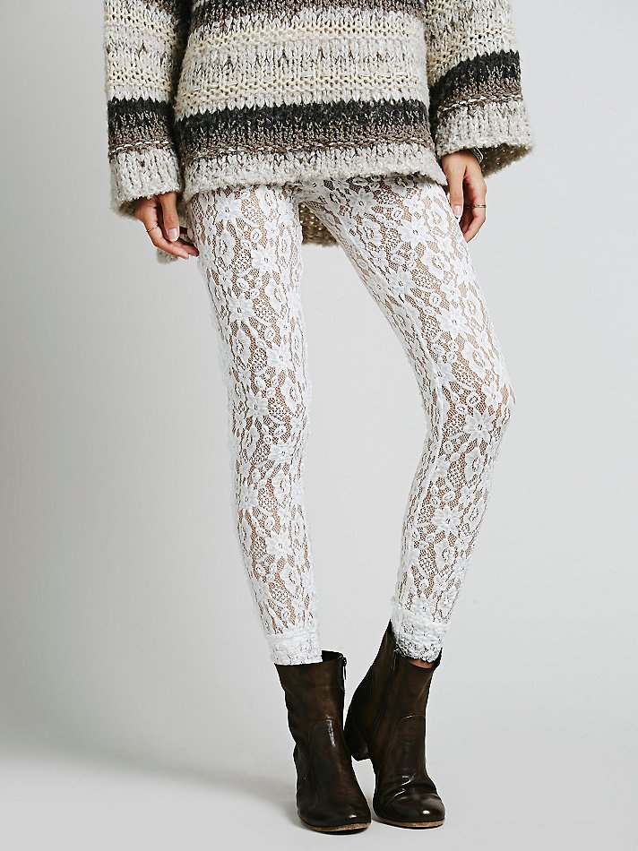 Lyst Free People Lazy Lace Legging In White