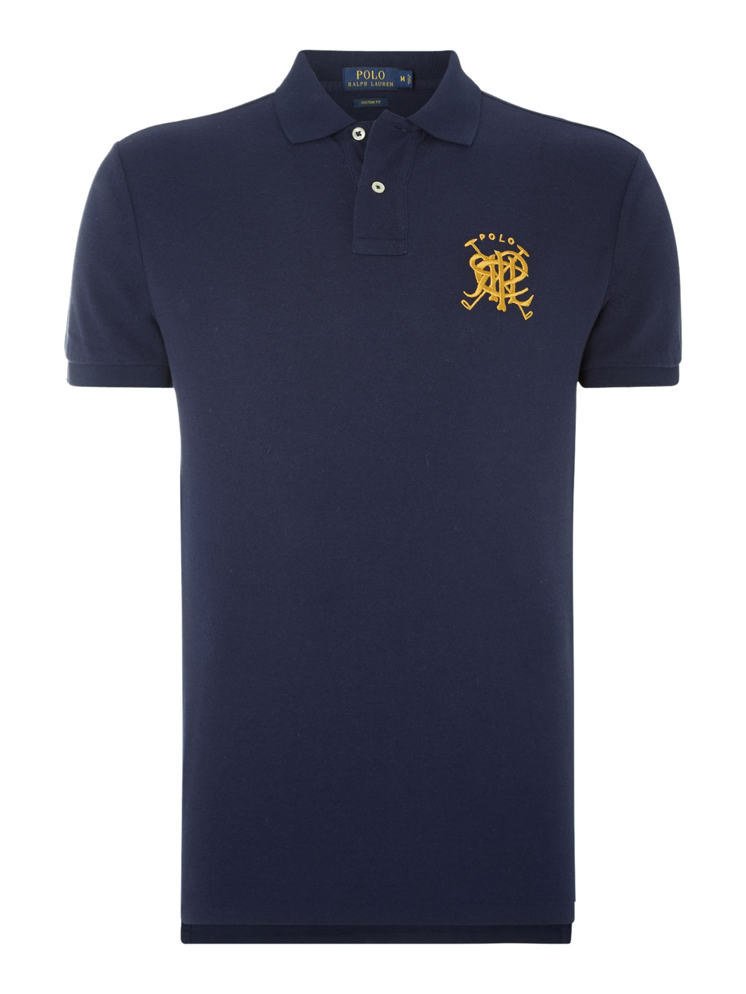 Lyst polo ralph lauren custom fit short sleeve crest for Shirts with custom logo