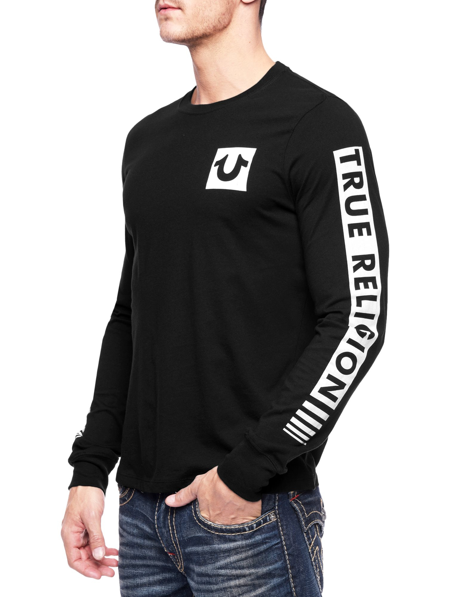 true religion sleeve fade mens tshirt in black for men lyst