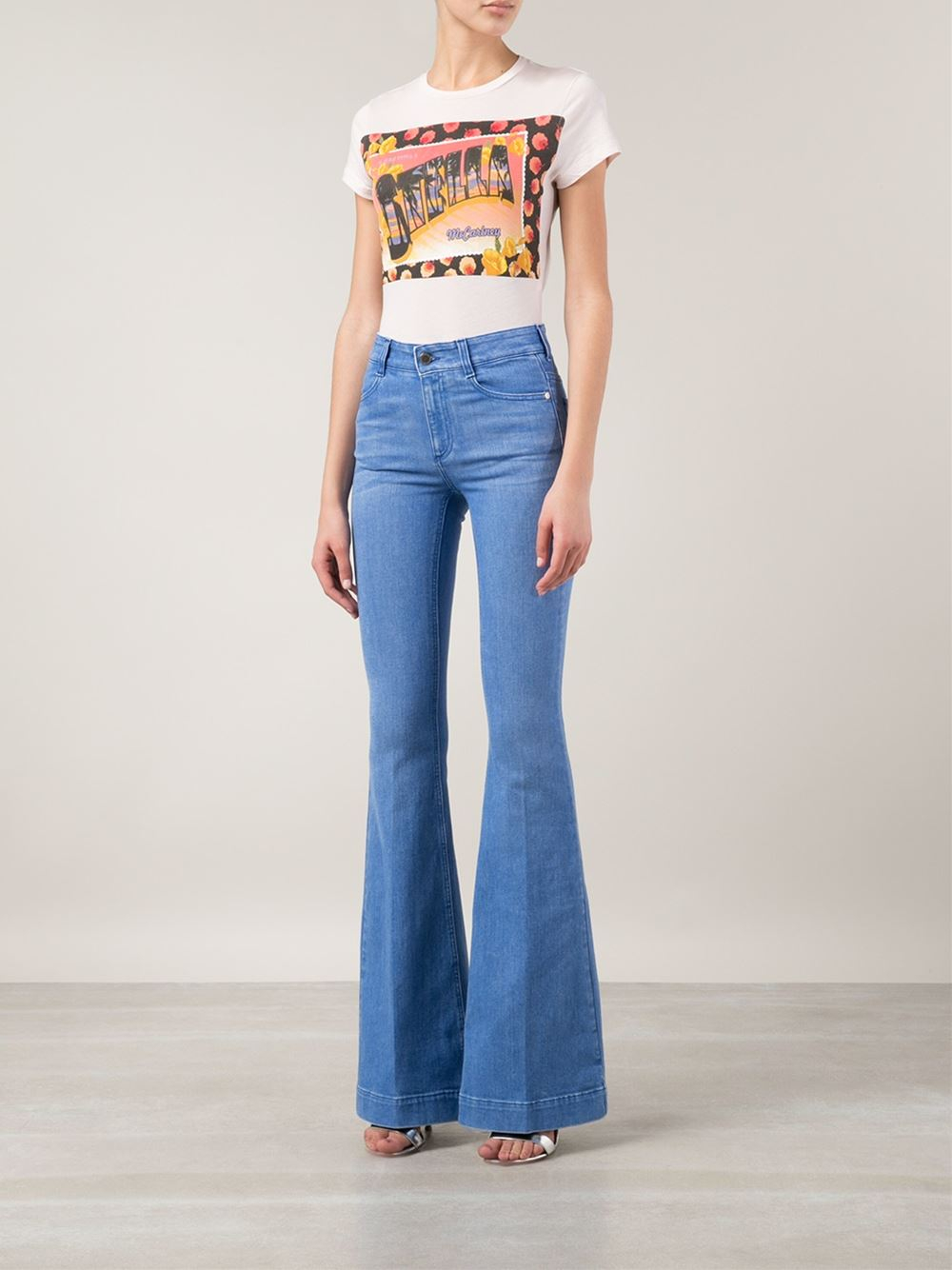 Stella mccartney Flared Jeans in Blue | Lyst