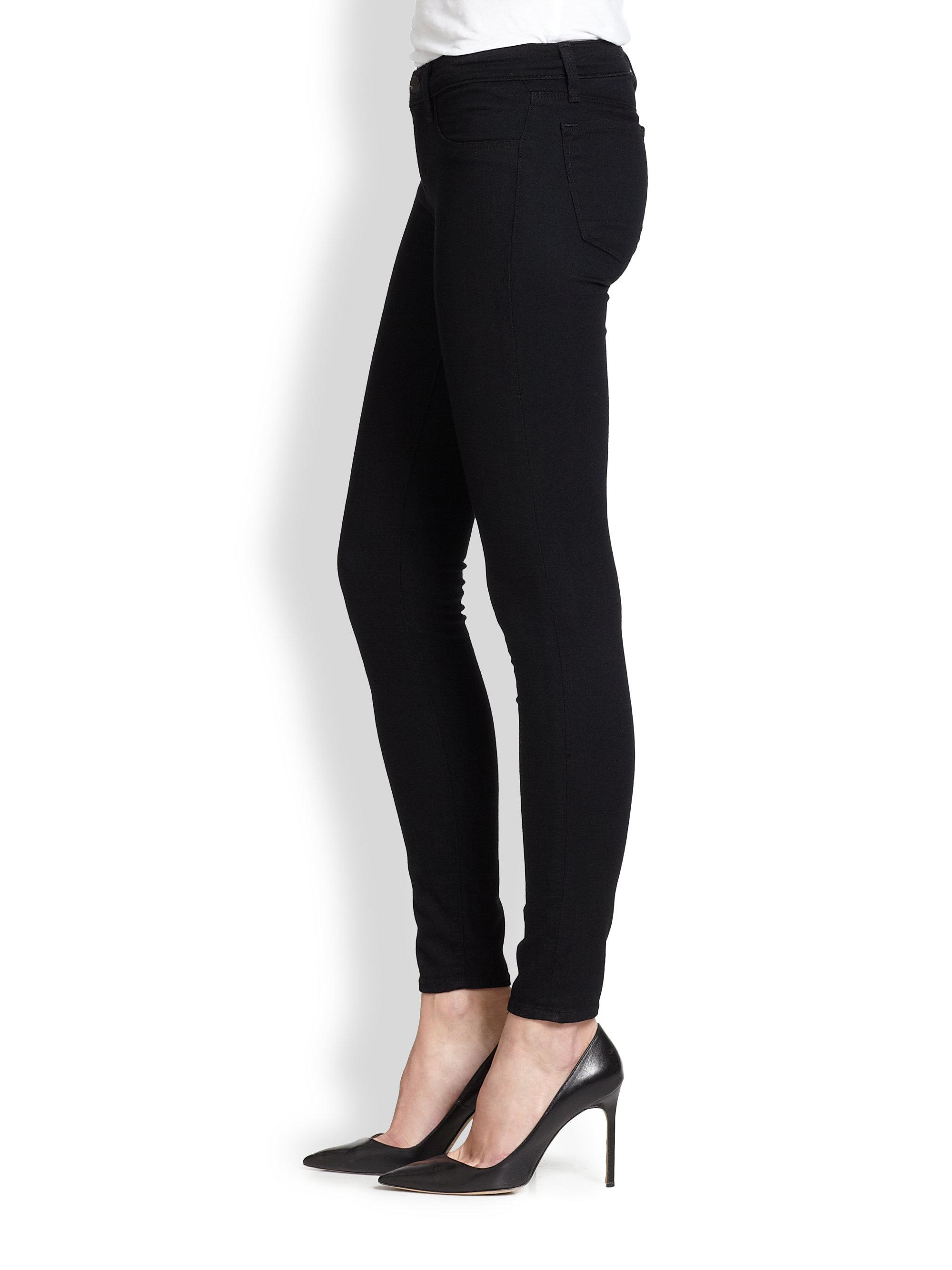 Lyst J Brand 915 Low Rise Denim Leggings In Black