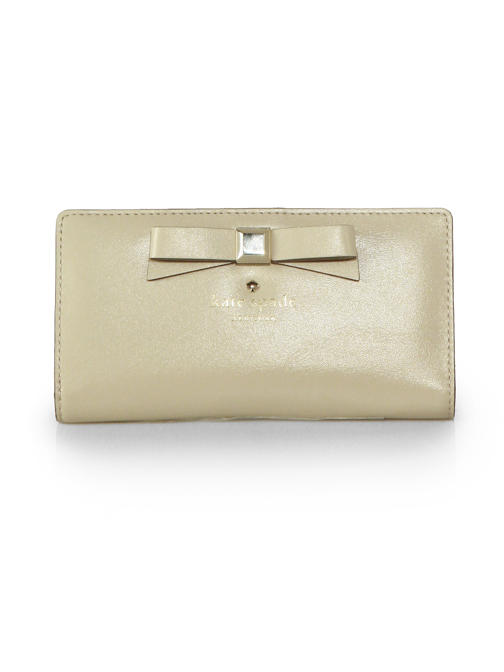 cd97cb263c4c Lyst - Kate Spade Holly Street Stacy Continental Wallet in Metallic