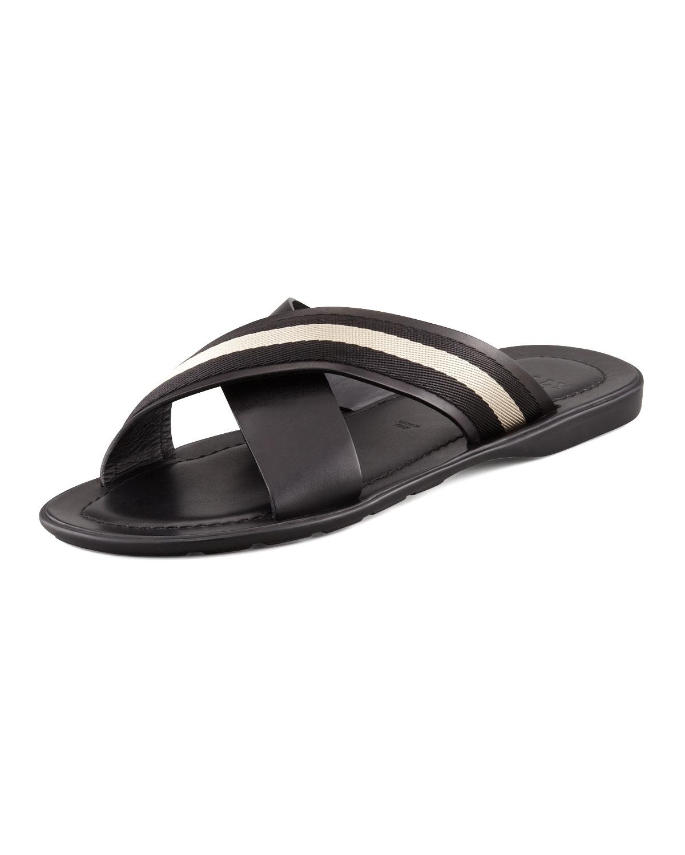 Lyst Bally Briley Cross Web Sandals Black In Black For Men