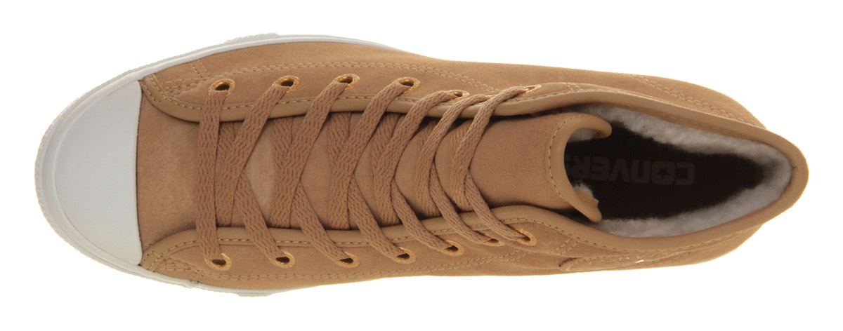 Converse All Star Synthetic Leather Shoes Sand