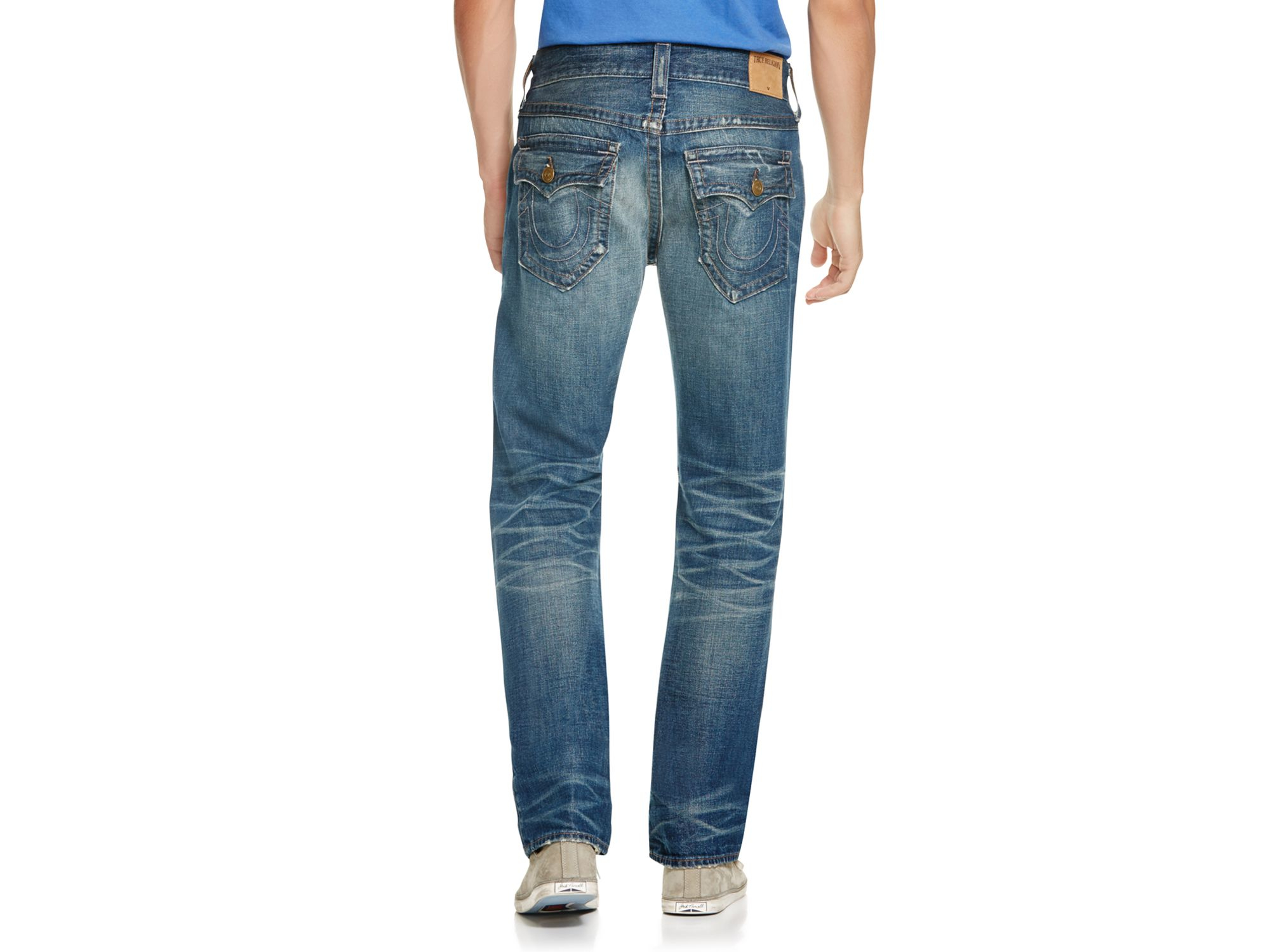 True Religion Ricky Relaxed Fit Jeans In Rough in Blue for Men