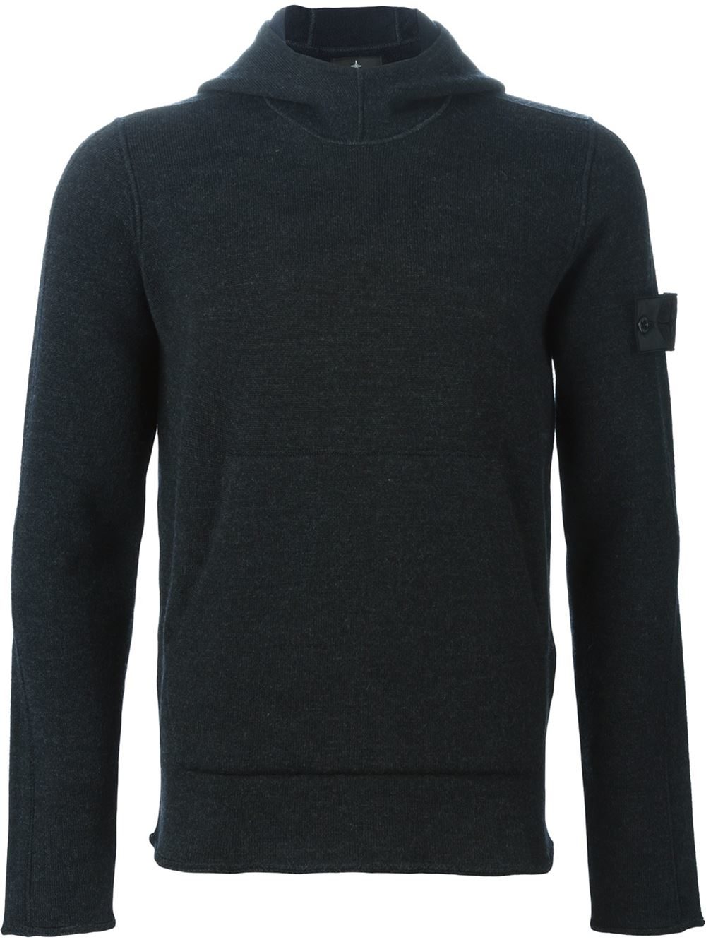 stone island hooded sweater in gray for men grey lyst. Black Bedroom Furniture Sets. Home Design Ideas