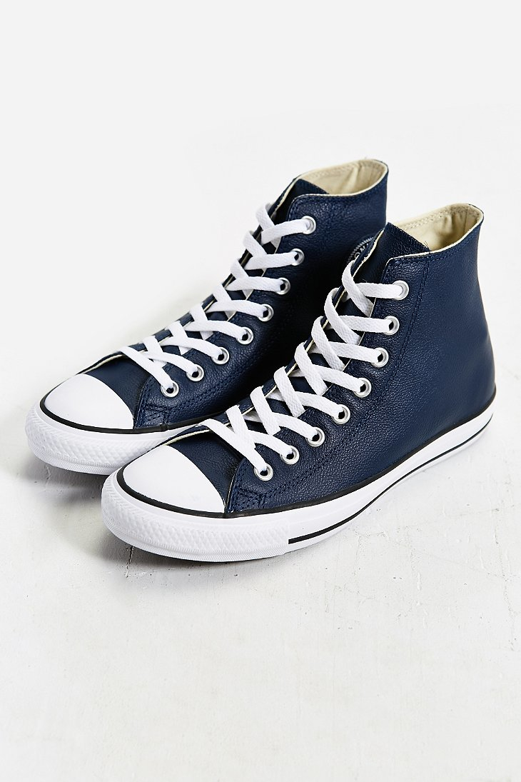 d41d924add56 Lyst - Converse Chuck Taylor All Star Leather High-top Sneaker in ...