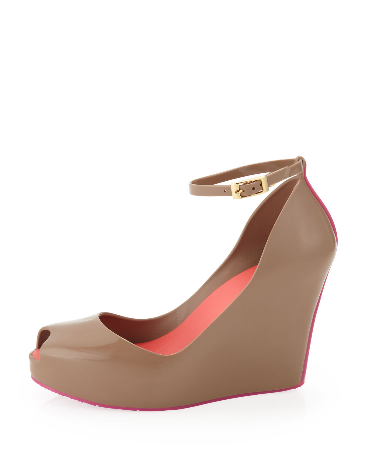 Melissa Red Wedge Shoes
