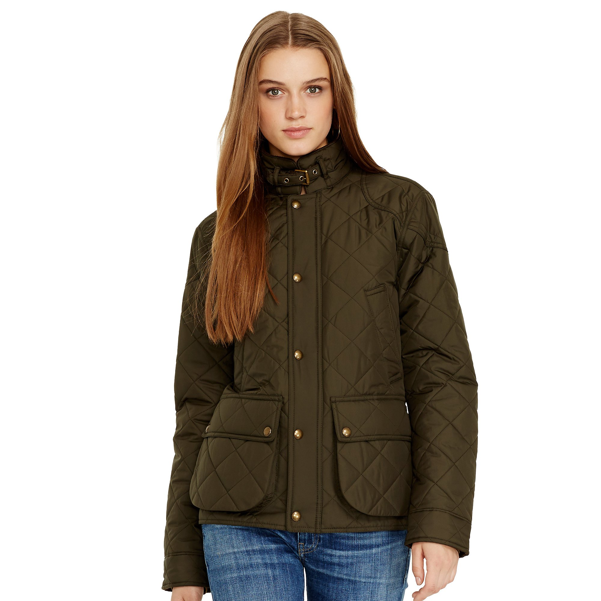 Lyst - Polo Ralph Lauren Quilted Bomber Jacket in Green 7c02a2d7a