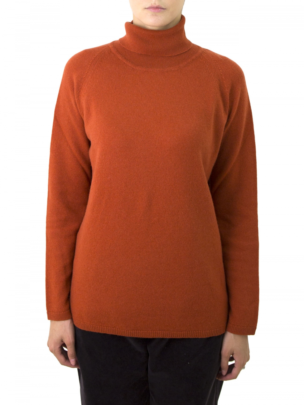 Rust Colored Sweater Women'S - Cashmere Sweater England