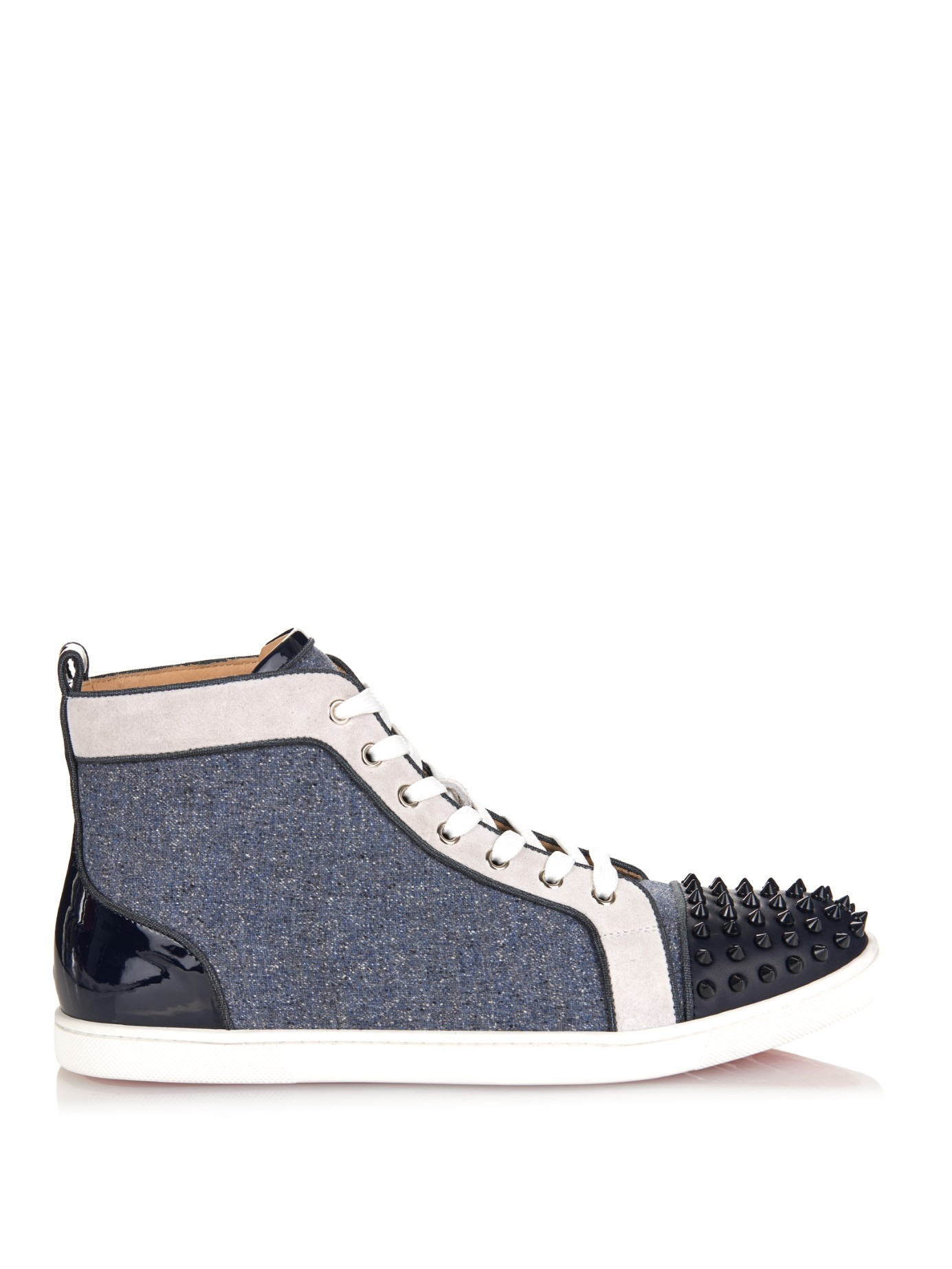 new arrival 3a3b4 b1513 Men's Blue Bip Bip Orlato Spiked High-Top Sneakers