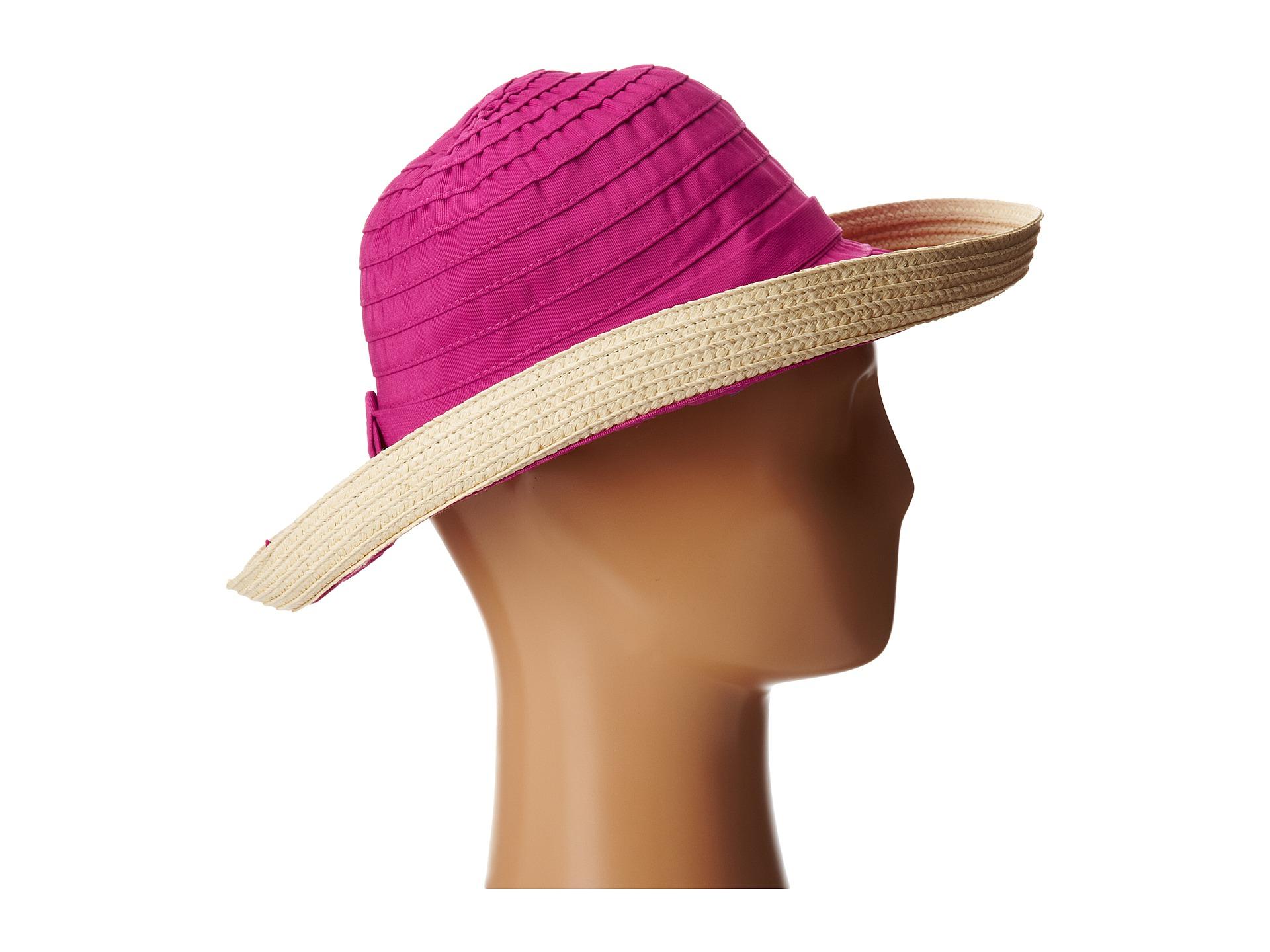 5d181087ad3 Lyst - San Diego Hat Company Rbm5554 Ribbon Kettle Brim in Pink