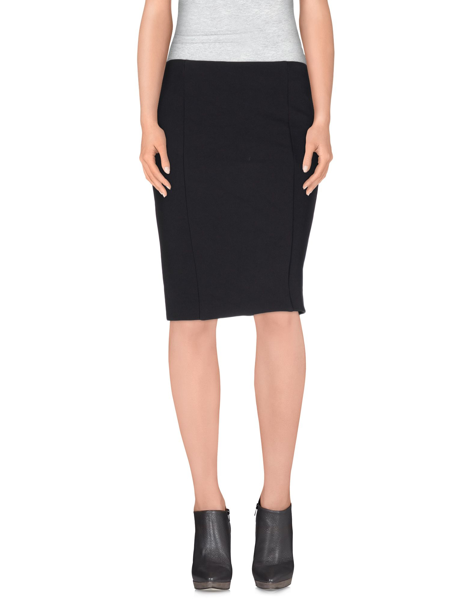 i blues knee length skirt in black lyst