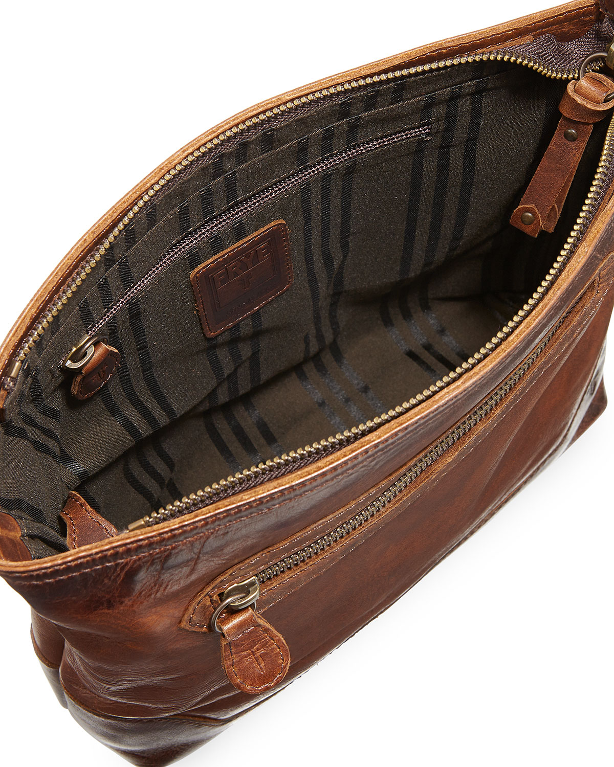 de835dc61c591e Frye Melissa Tumbled Leather Crossbody Bag in Brown - Lyst