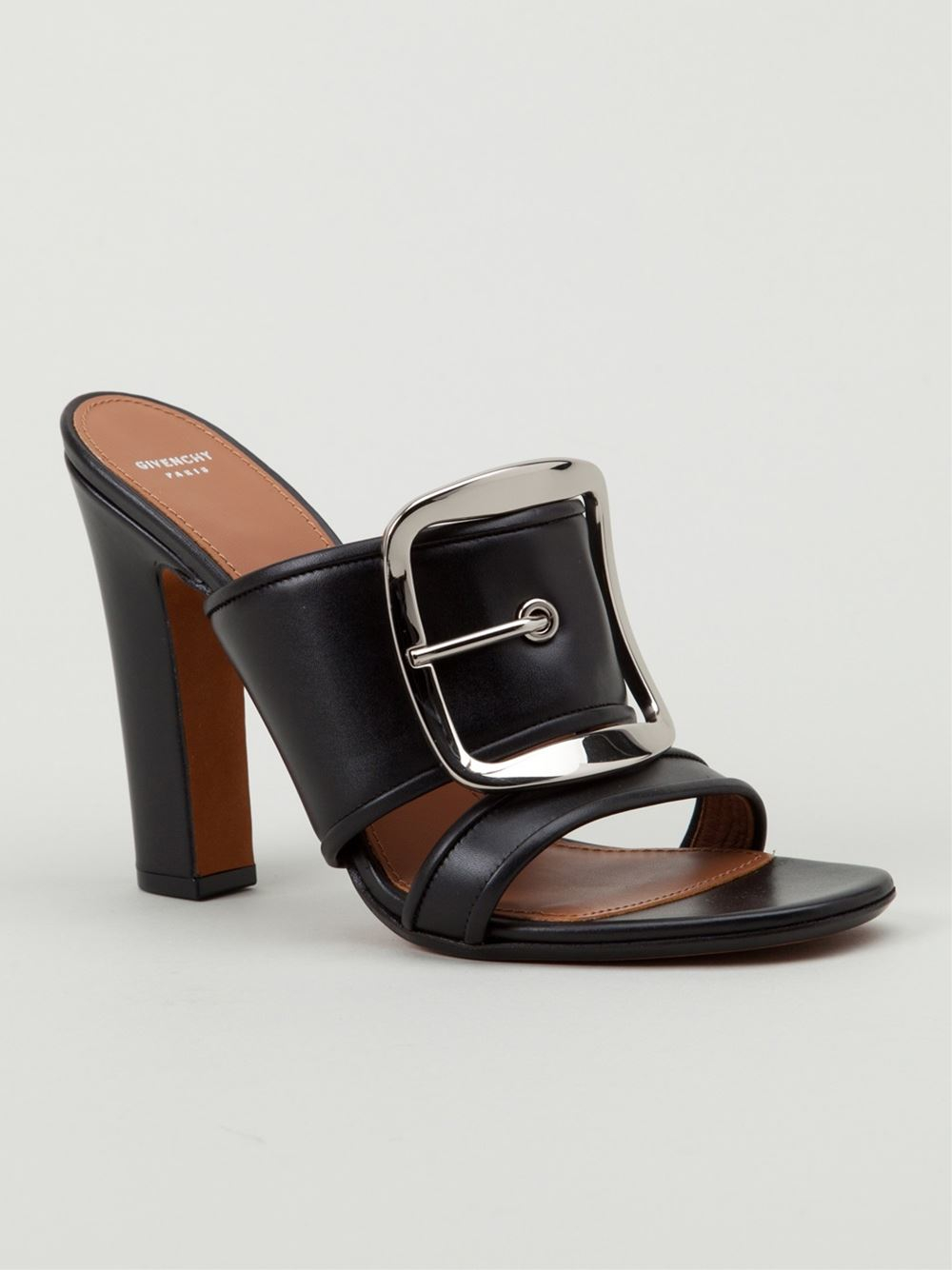 Givenchy Buckle Detail Sandals In Black Lyst