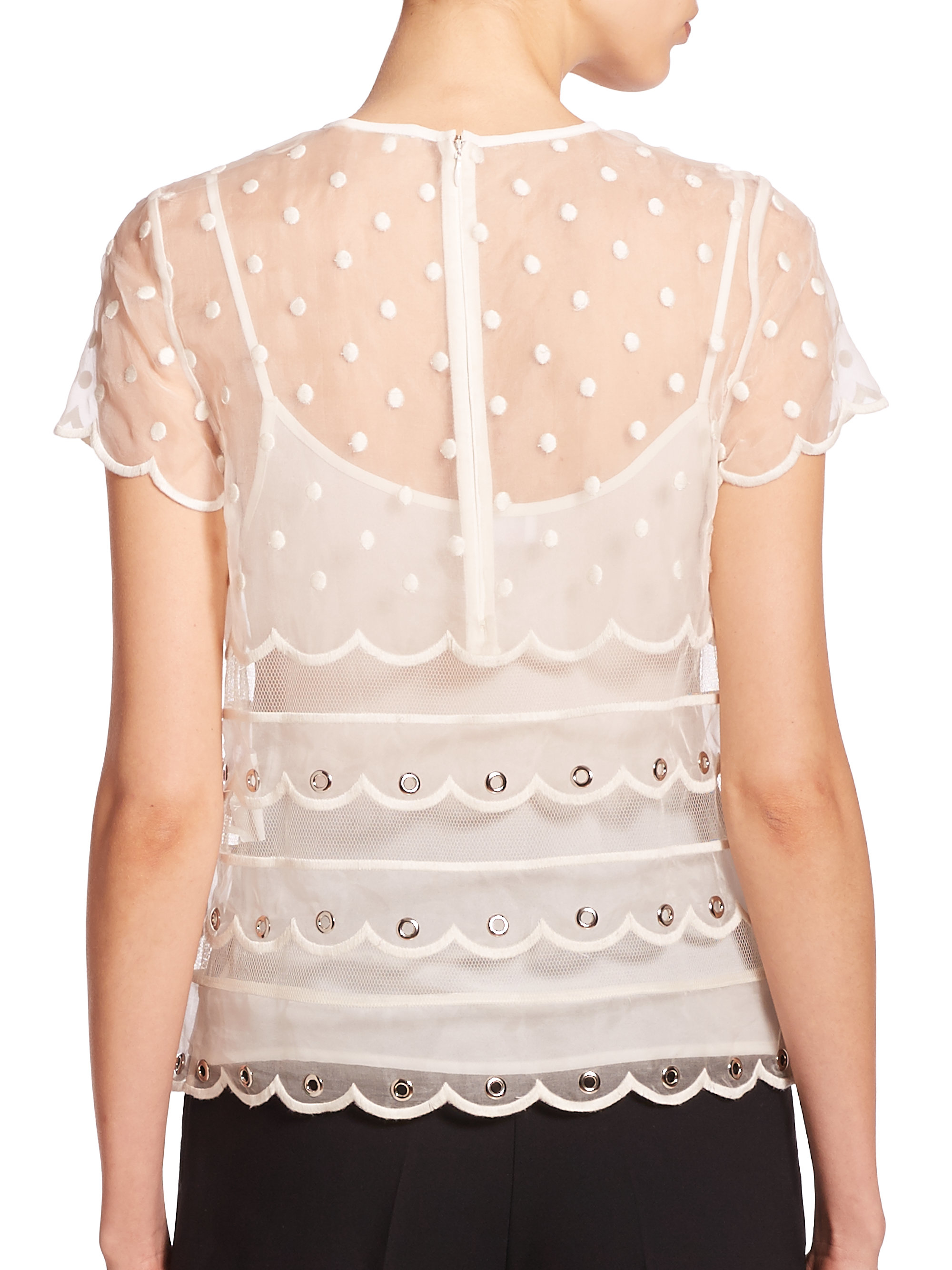 Organza blouse Red Valentino Free Shipping With Credit Card Buy Cheap Huge Surprise Discount Low Shipping Fee aI94k
