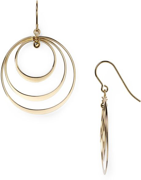 Nancy b vermeil drop earrings in gold lyst for Nancy b fine jewelry
