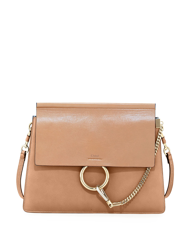 chlo faye medium leather shoulder bag in brown lyst. Black Bedroom Furniture Sets. Home Design Ideas