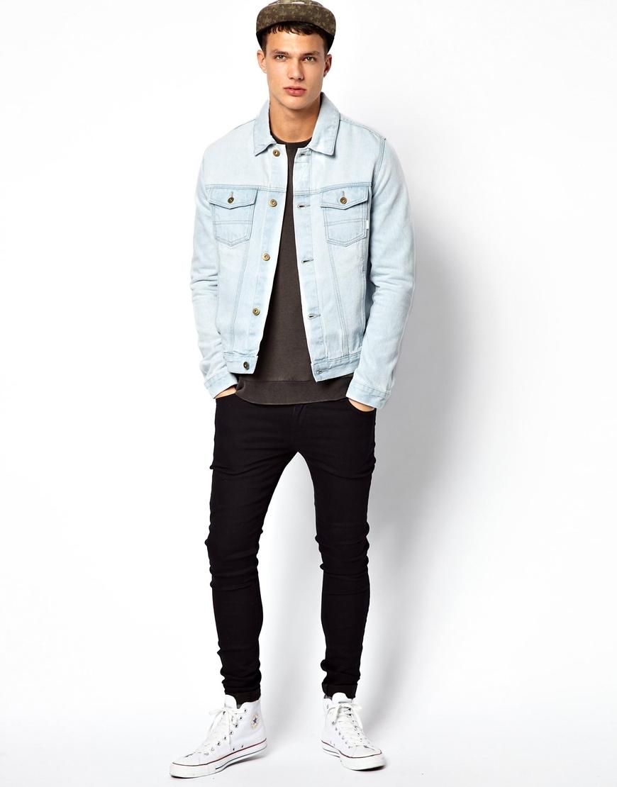 0e000f8c8f4 ASOS Denim Jacket with Acid Wash in Blue for Men - Lyst