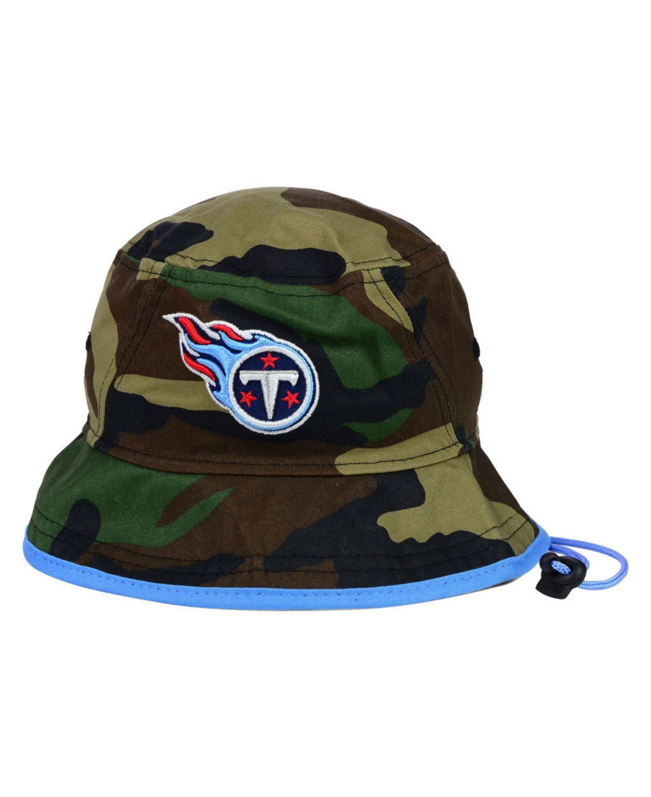 40153de9413 ... nfl heather gray bucket hat in gray 52e30 85125  cheap lyst ktz  tennessee titans camo pop bucket hat in green for men 3d4fb 517b8