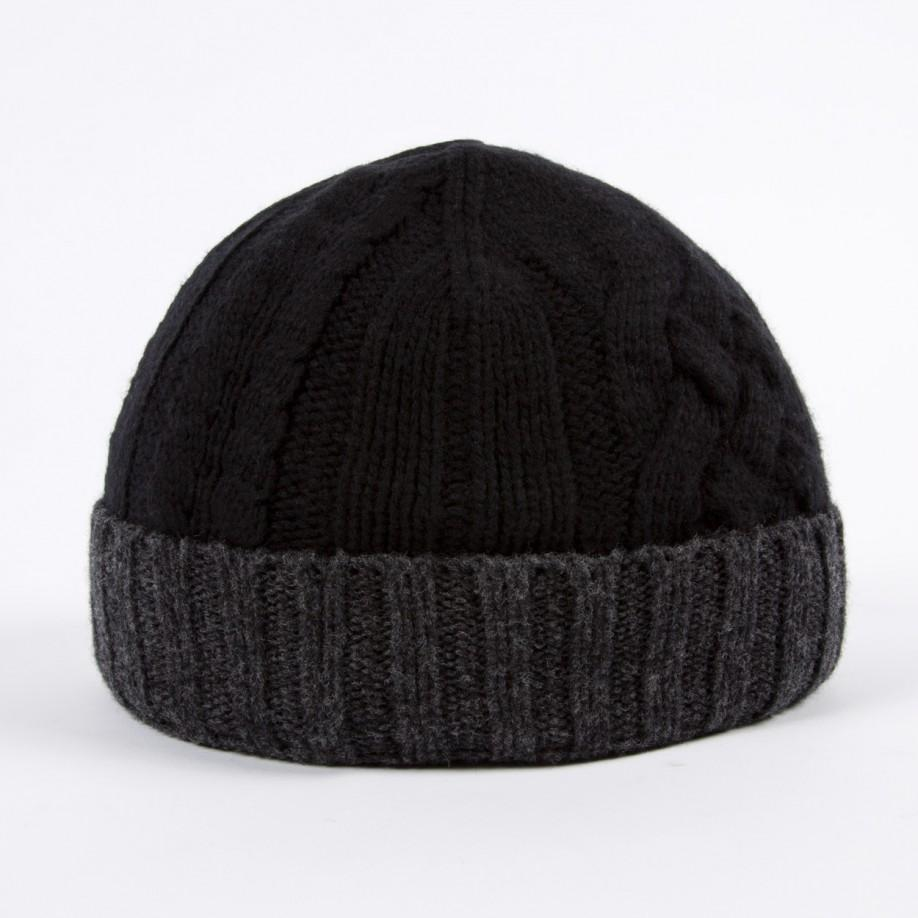 Lyst - Paul Smith Men s Black And Grey Cable Knit Beanie Hat in ... cc482a1ad17