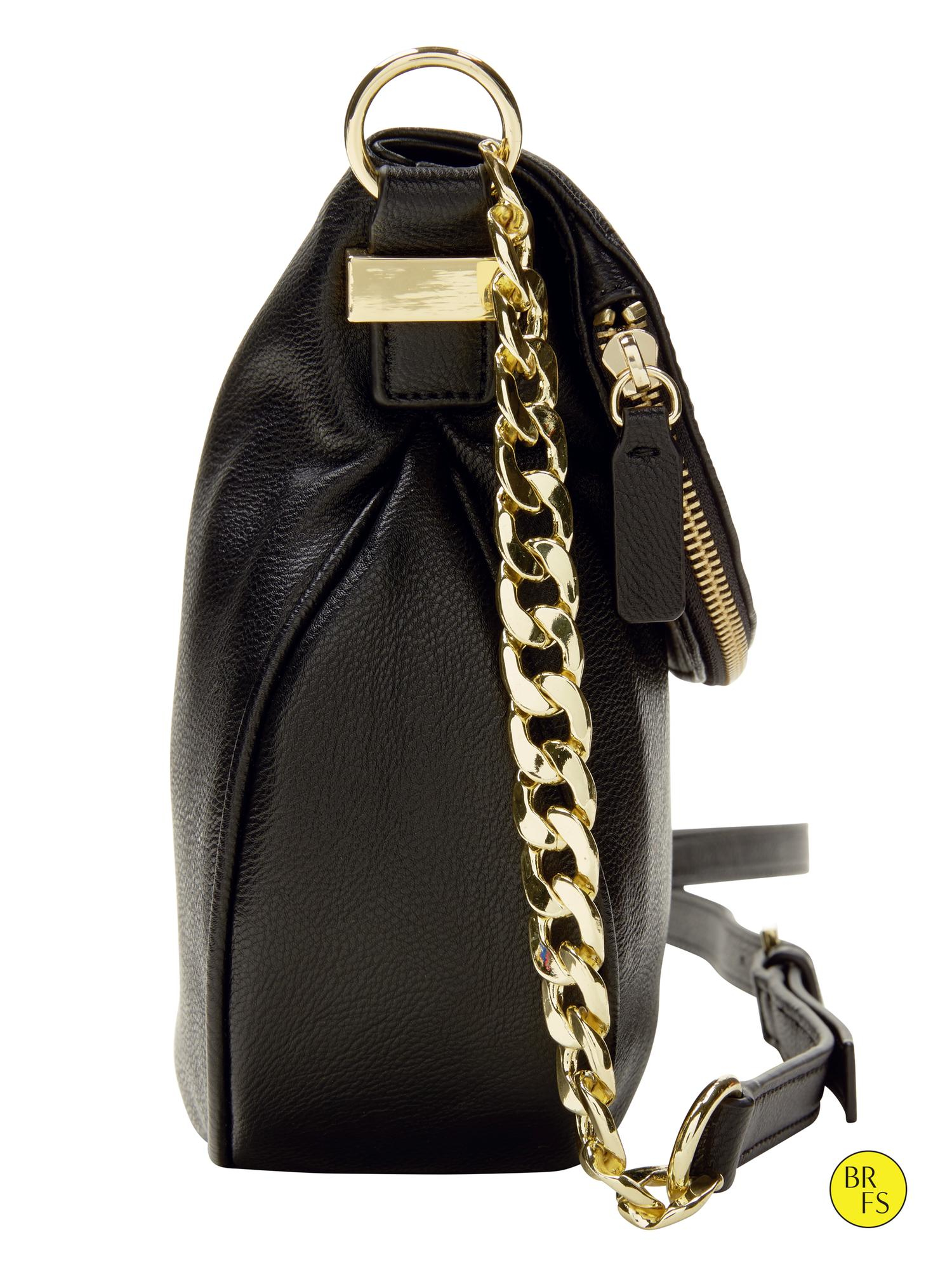Lyst Banana Republic Factory Saddle Bag In Black