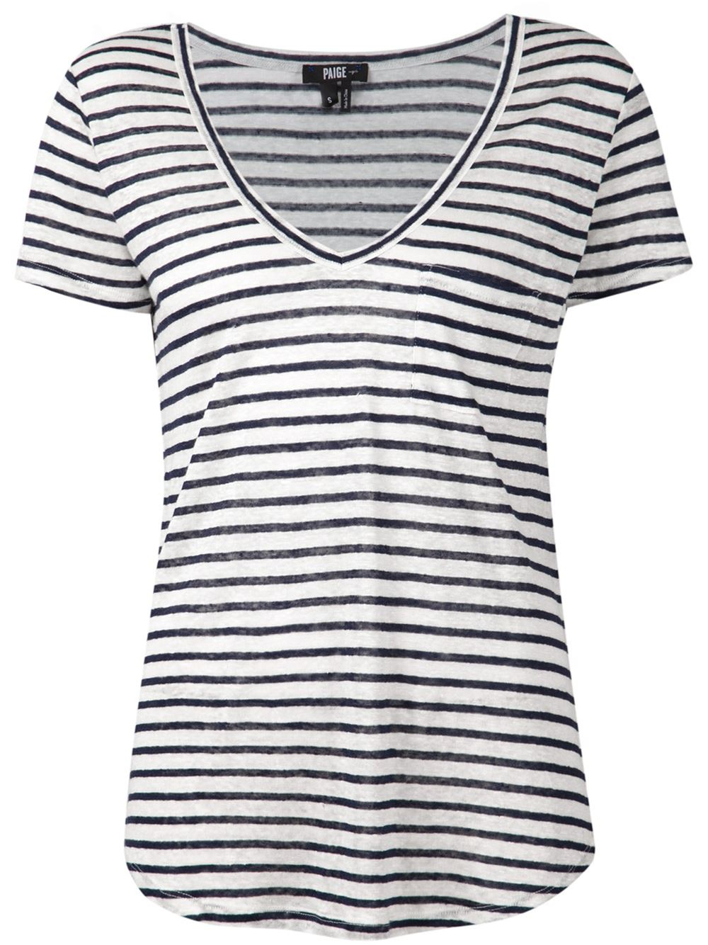 Paige 39 Lynnea 39 Striped T Shirt In Black White Lyst