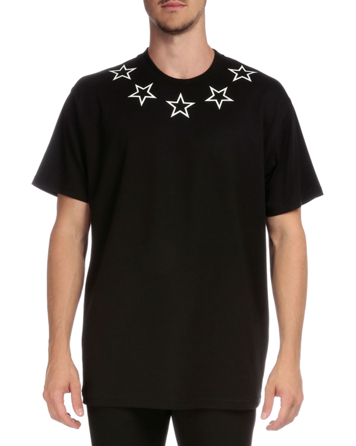 Givenchy colombian star collar short sleeve t shirt in for Givenchy 5 star shirt