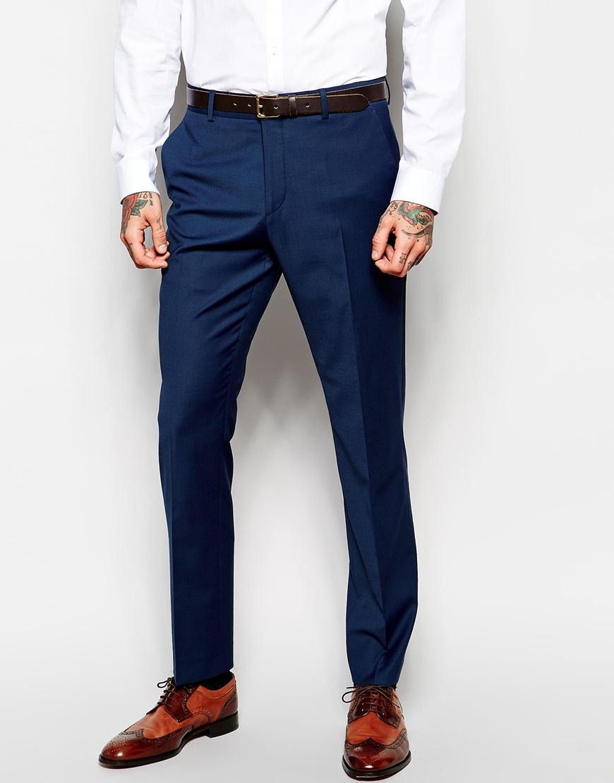 Asos Skinny Suit Pants In Navy - Navy in Blue for Men | Lyst