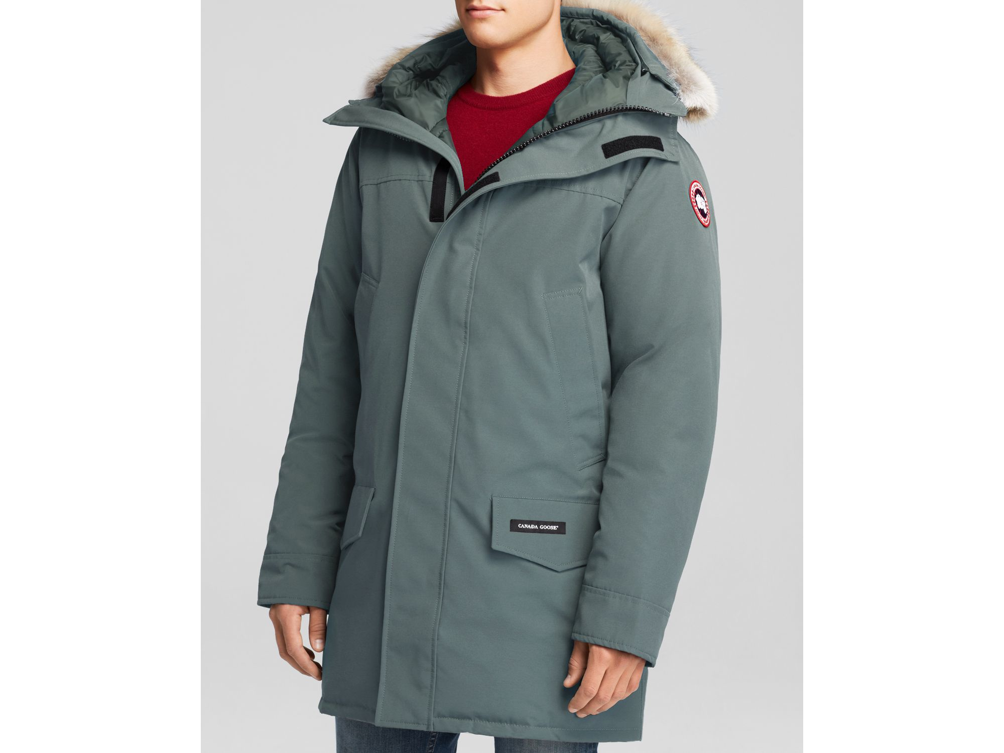 8f0eac315092 ... promo code for lyst canada goose langford parka with fur hood in gray  for men 2e2c6