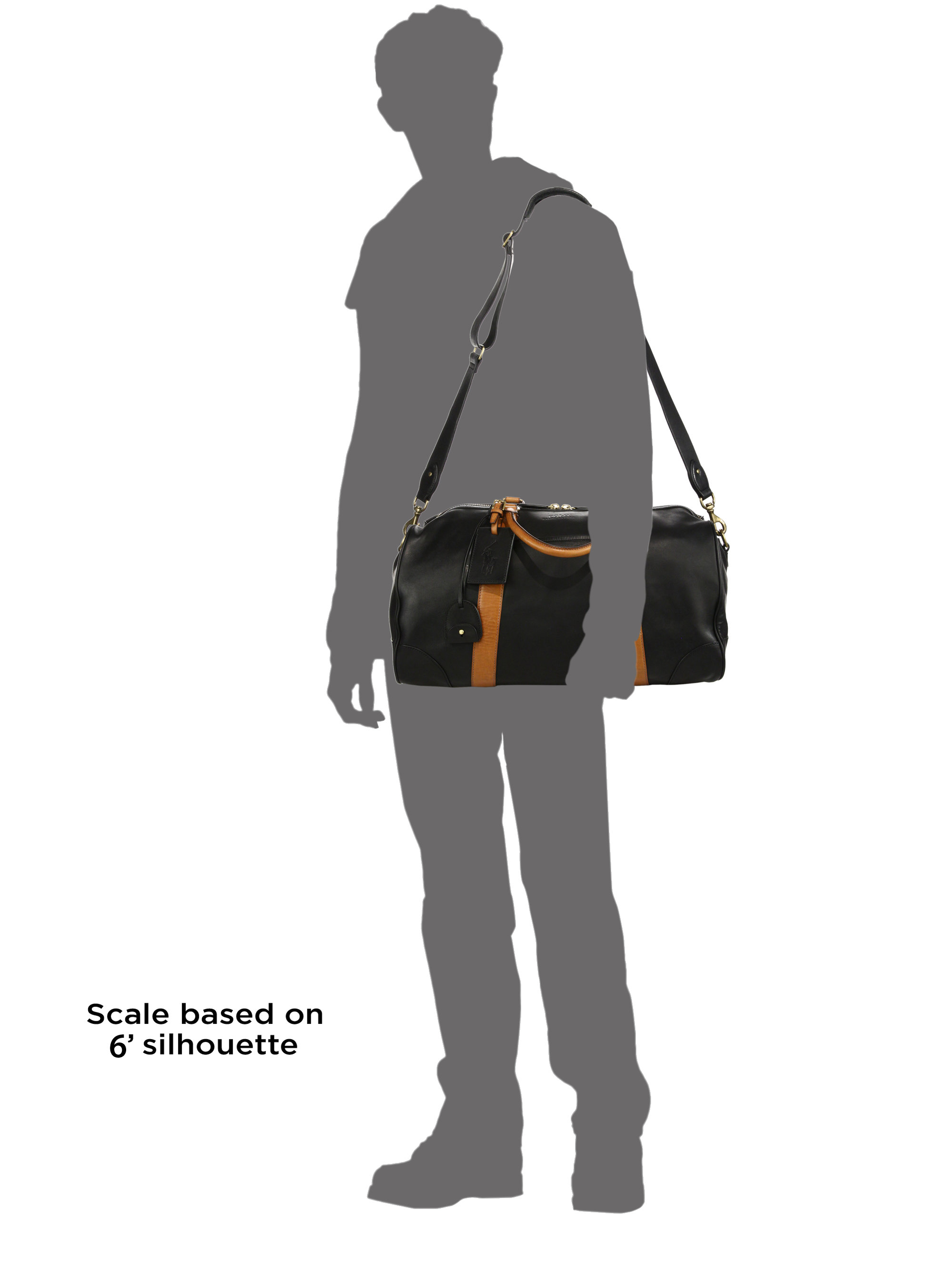Polo Ralph Lauren   Black Leather Duffel Bag for Men   Lyst. View Fullscreen