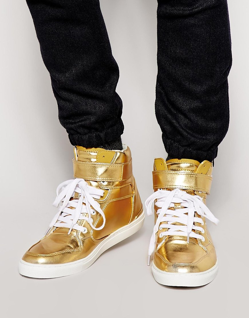 Trainers in Gold (Metallic) for Men - Lyst