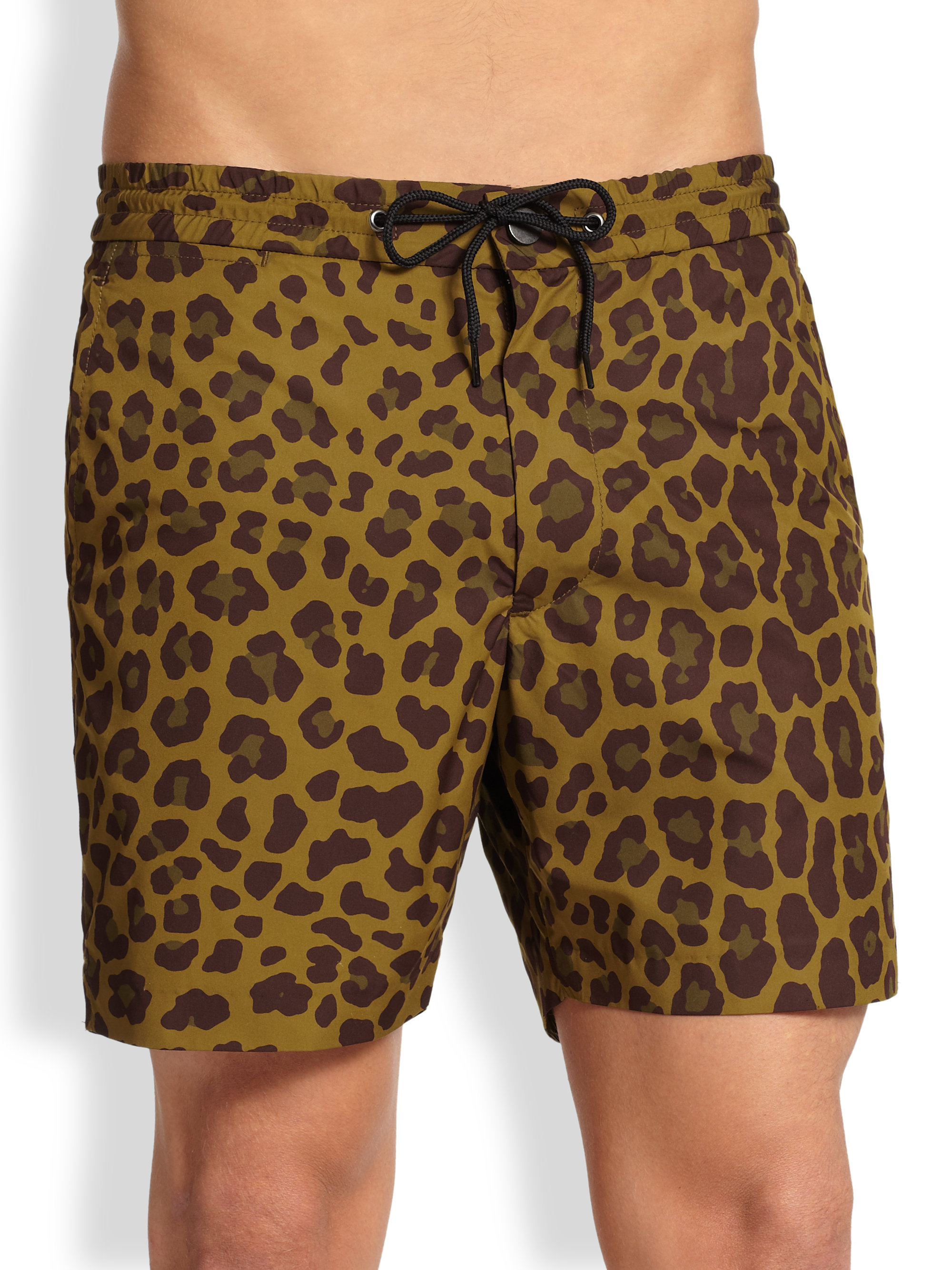 8a0e4e17e9af0 Lyst Marc By Jacobs London Leopard Swim Trunks In Green For Men