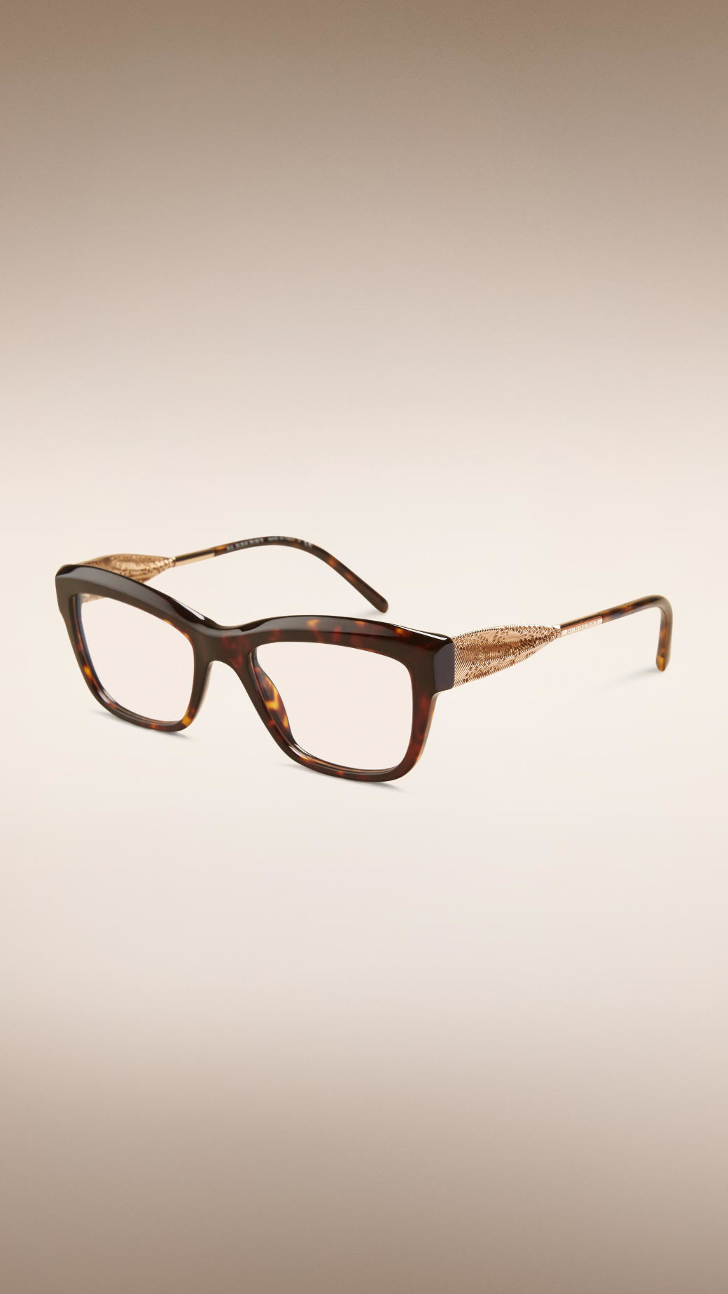 95606790c7 Burberry Gabardine Lace Collection Cat-eye Optical Frames - Lyst