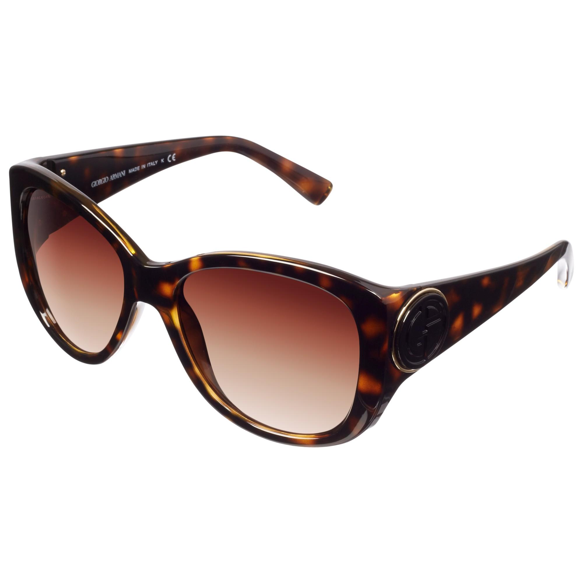 Lyst - Giorgio Armani Square Lens Sunglasses in Brown