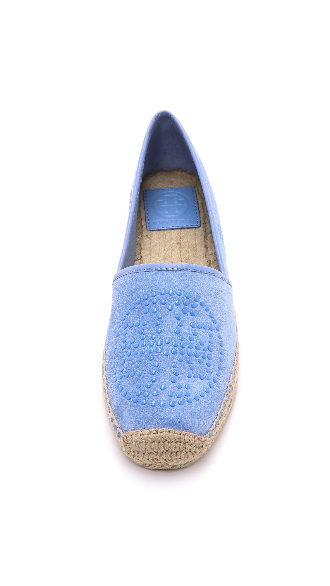 9096e21b4fe7 Lyst - Tory Burch Kirby Suede Flat Espadrilles - Pashmina in Blue