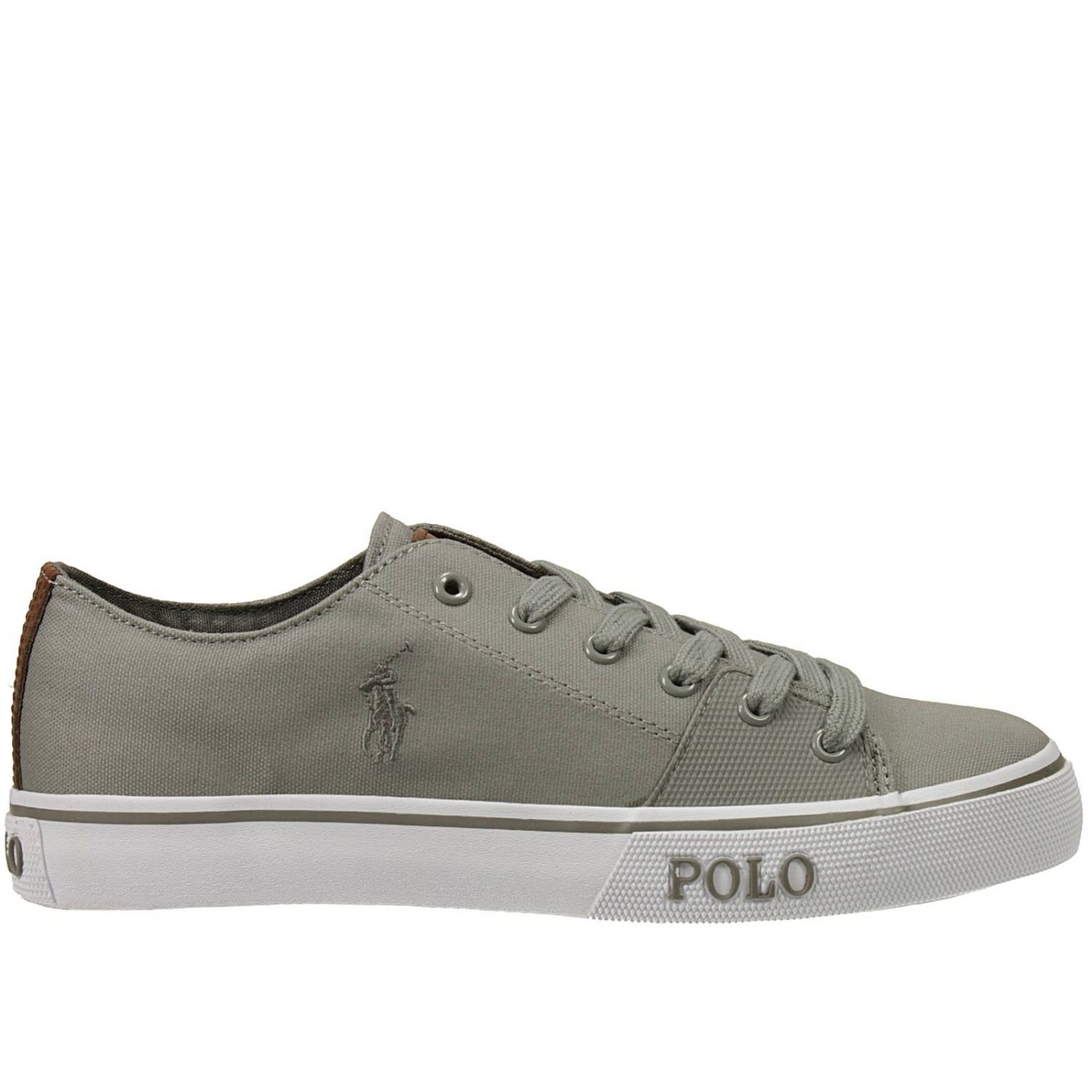 polo ralph lauren cantor low ne sneakers canvas e gomma con logo in gray for men lyst. Black Bedroom Furniture Sets. Home Design Ideas