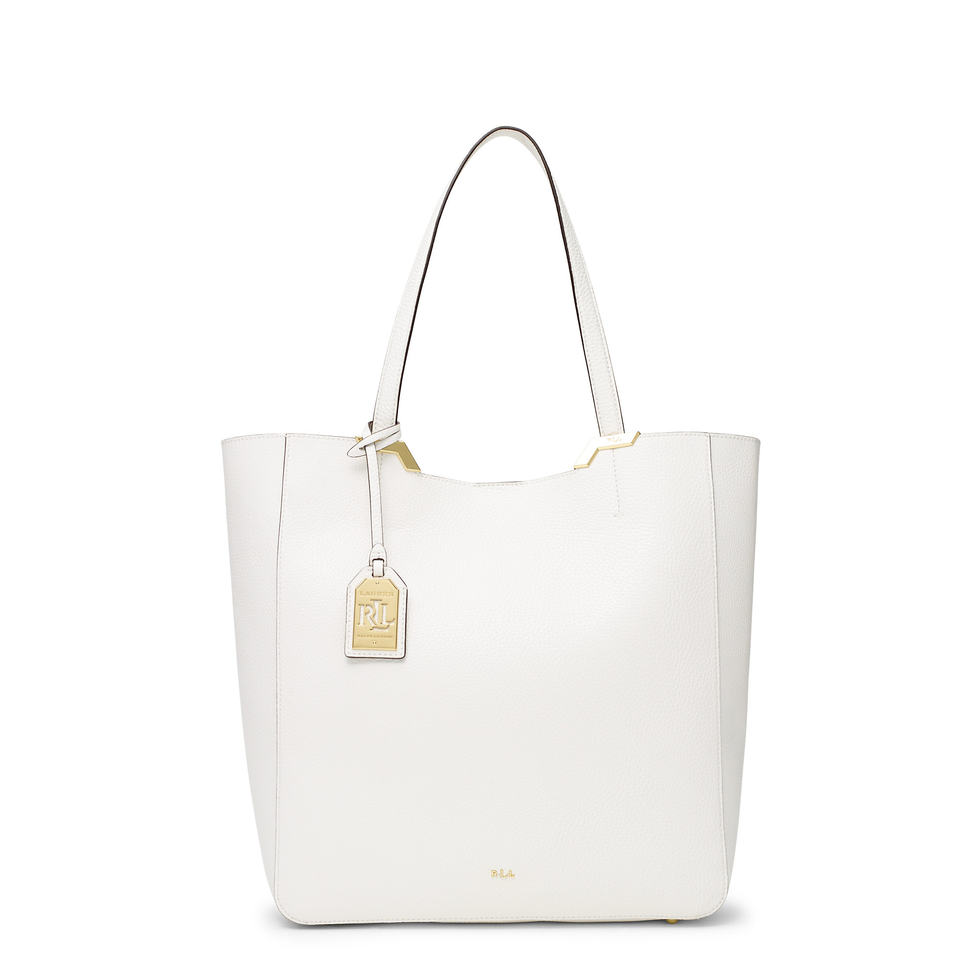 0ab235fd845b Lyst - Ralph Lauren Acadia Tote in White